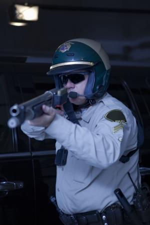 patrolman: Nightwatch patrolman aiming rifle