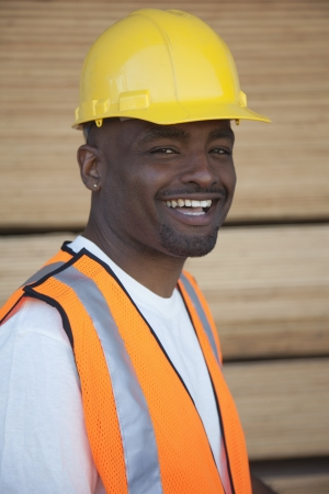 occ: Portrait of a cheerful warehouse worker