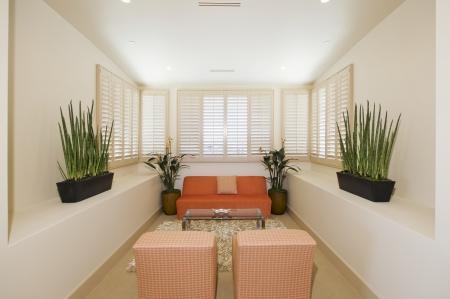 Interieur met planten en meubels