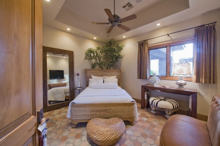 ceiling fan: Bedroom interior