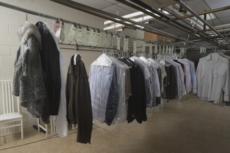 laundrette: Clothes hanging in the laundrette LANG_EVOIMAGES