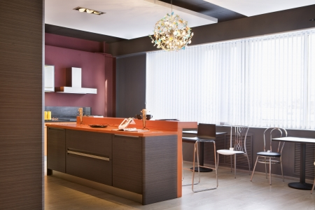 fitted unit: A kitchen interior