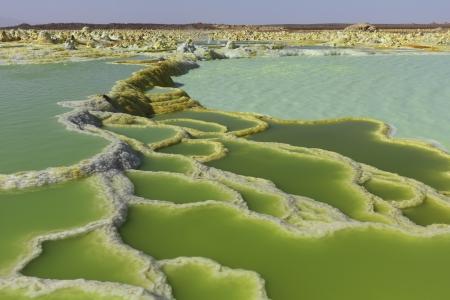 contaminacion del agua: Dallol Volc�n depresi�n Danakil Etiop�a