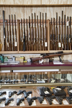 store display: Weapons displayed in gun shop LANG_EVOIMAGES
