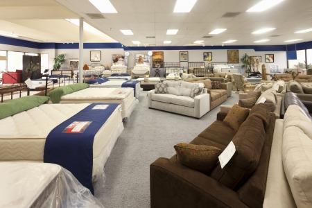 furniture shop: Interior of furniture store