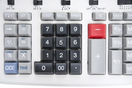 pushbuttons: Close-up of pushbuttons of calculator