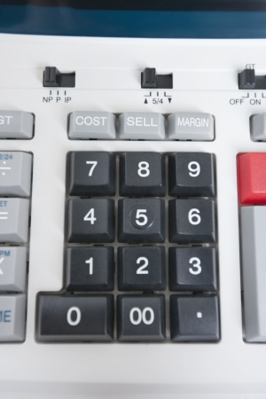 pushbuttons: Close-up of calculator pushbuttons