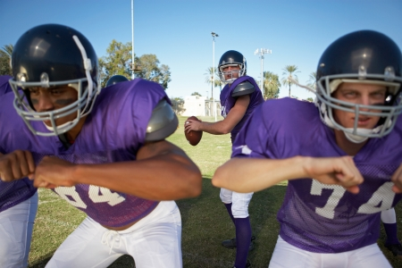 linemen: Quarterback Behind Linemen