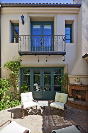 staircases: Entrance to a beautiful Mediterranean home exterior LANG_EVOIMAGES