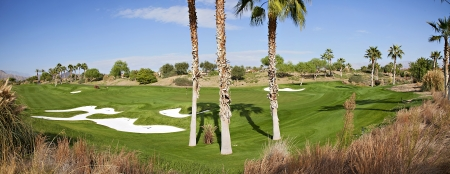 golf of california: Panoramic view of a golf course