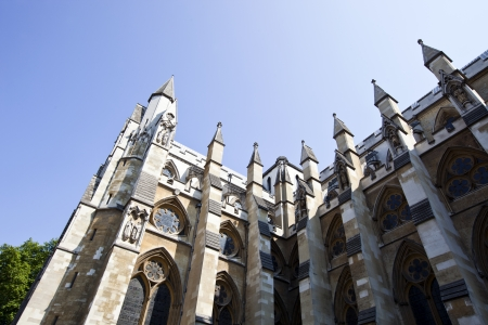 Side view of Westminster Abbey and Blue Sky
