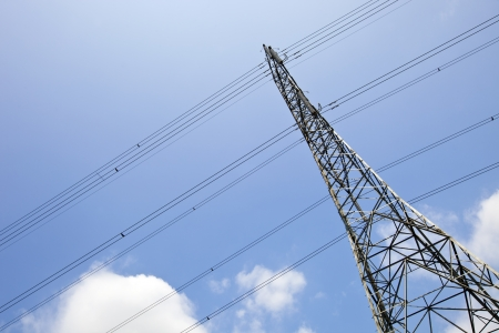 Electricity Pylon against clear sky Stock Photo - 23233729