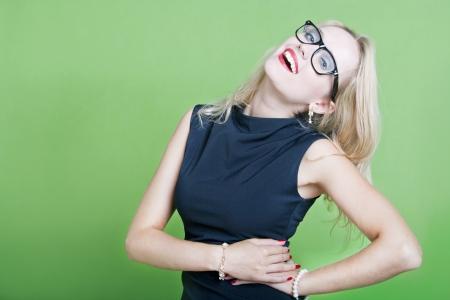 eye wear: Sexy blonde woman wearing eye wear LANG_EVOIMAGES