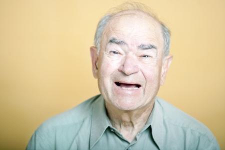senior adult man: Senior Adult man laughing