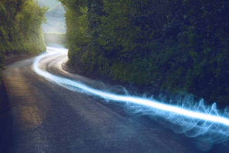 Fiber optic cable running above ground in the British Countryside Фото со стока - 23272429