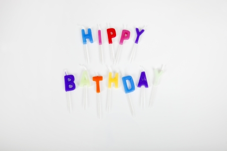 Birthday candles over white background Stock Photo - 25294608