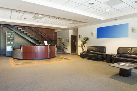 Spacious office lobby Stock Photo
