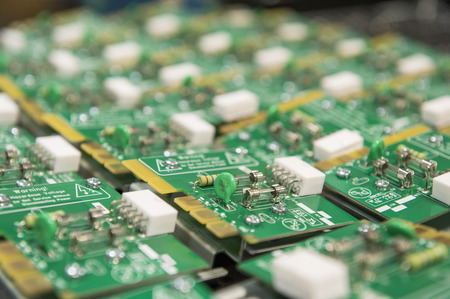 electronics industry: Close-up of circuit board in electronics industry