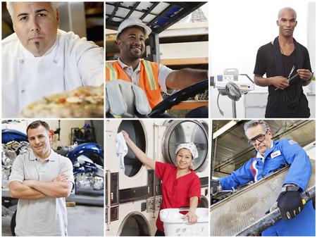 Collage von Menschen mit verschiedenen Berufen