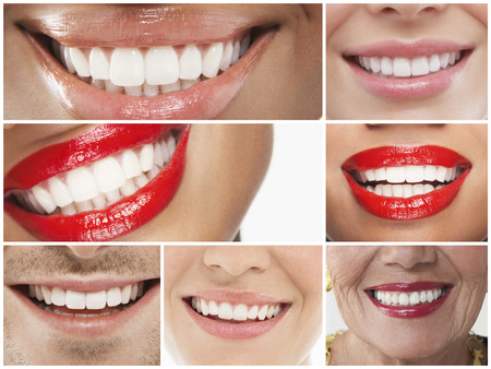 smiling: Collage of people smiling