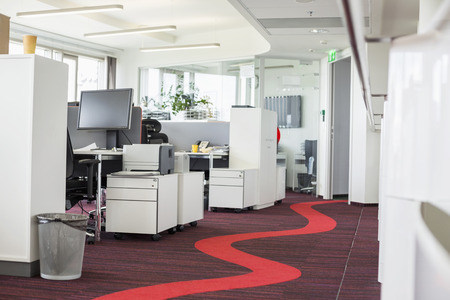 carpet and flooring: Interior of creative office