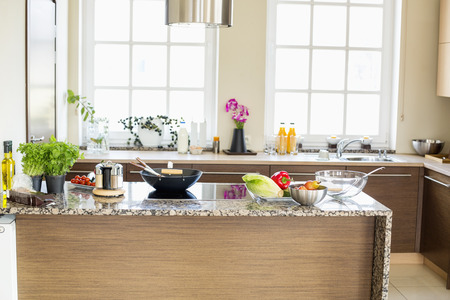 Innenansicht der modernen Küche