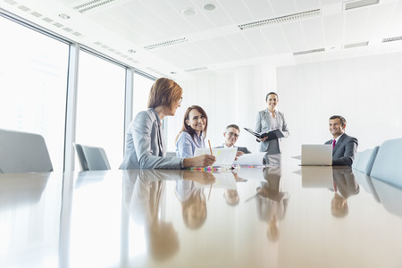 sitting room: Businesspeople in conference room