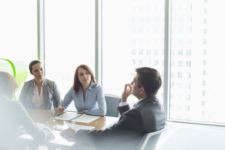 Im Business-Meeting im Sitzungssaal