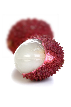lichee: Close-up of lichee fruit - studio shot LANG_EVOIMAGES