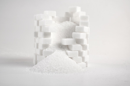 sugar cubes: Lump sugar - close up