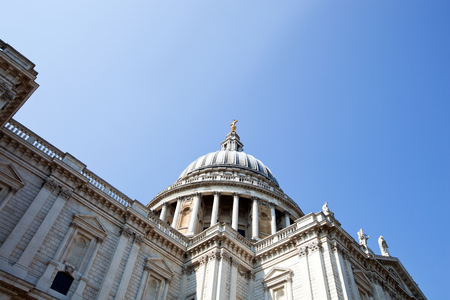 isles: View from below of St. Pauls cathedral, London