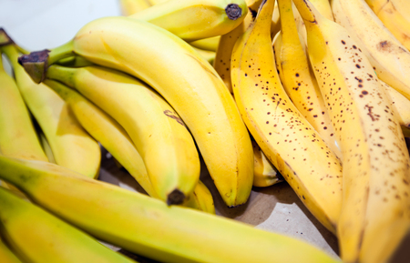 commercialism: Close-up of bananas in market