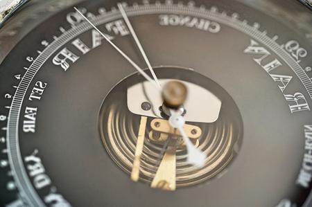 atmospheric pressure: Close-up of boat barometer