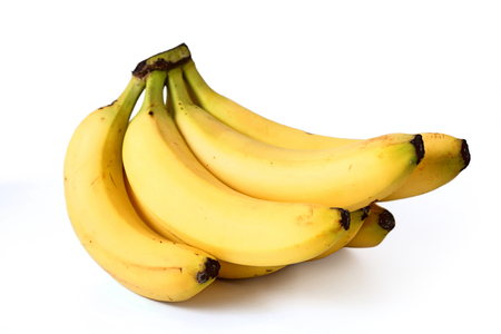 banana skin: Bananas on white background