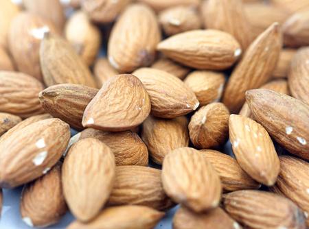 Almonds close up Stock Photo