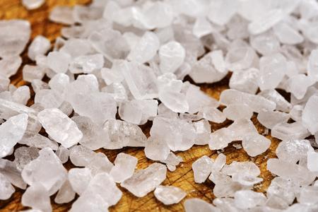 Close-up of salt grains LANG_EVOIMAGES