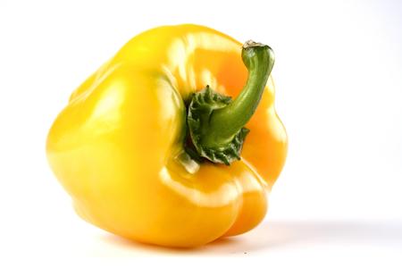 Yellow paprika on white background Stock Photo
