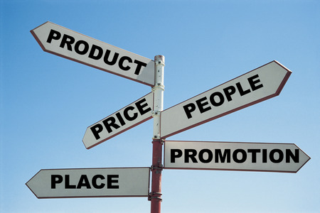 5 PS Of Marketing on a sign post
