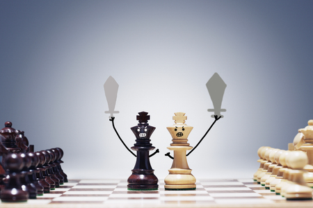 Chess game of war Stock Photo