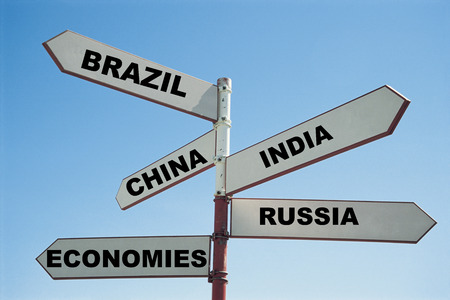 bric: BRIC economies sign post LANG_EVOIMAGES