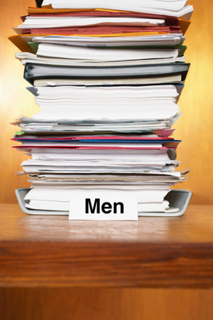 Overflowing Inbox for men Stock Photo