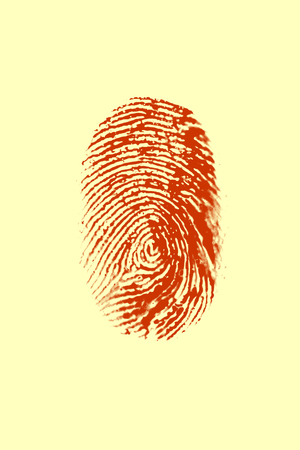 Red Fingerprint on yellow background LANG_EVOIMAGES