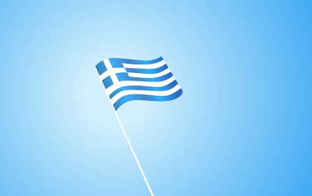aegean: Flag of Greece on blue background Illustration
