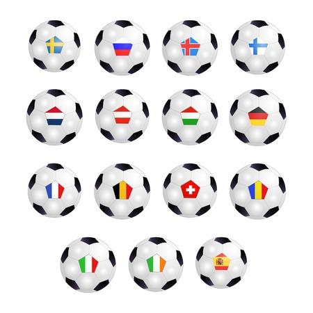 uefa: Set von Fu�b�llen