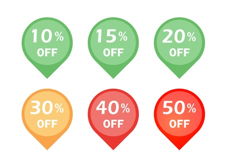 Set of discount sign icon Vector