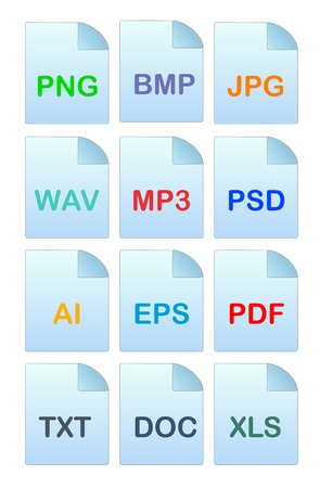 Set of icons for file manager Vector