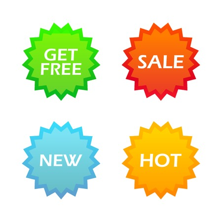 Icons for internet shoping round form, Vector Illustrations isolated on white background Vector
