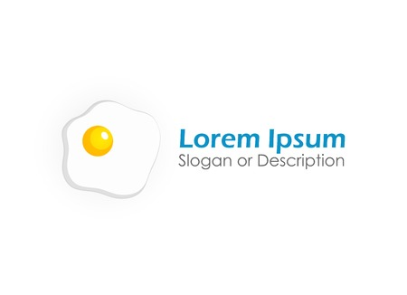 scrambled: Logo of Scrambled eggs, Vector Illustration with captions on white background Illustration
