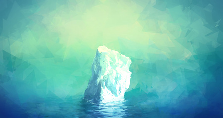 iceberg: Scenic Illustration of Iceberg in Greenland. Glacier floats in the polar sea
