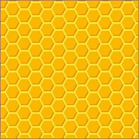 looped: Honeycomb Beehive, Orange Vector Background, Bright Looped Pattern Illustration. Illustration